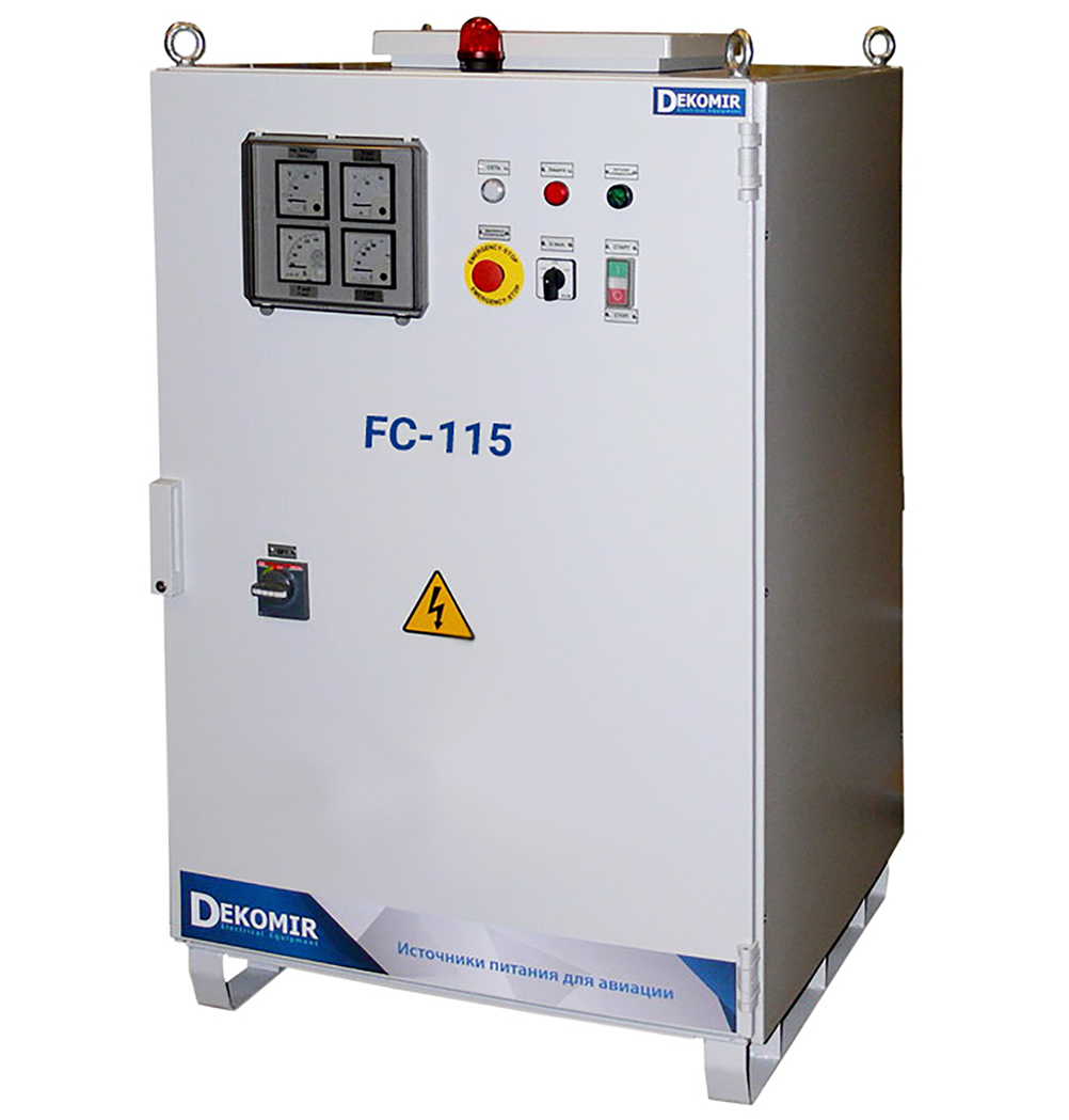The frequency converter FC120, 400HZ, 120 kVA